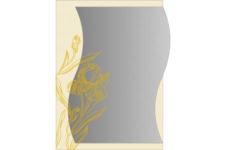 """Зеркало """"Ирис"""" золото  500*700*8 мм."""