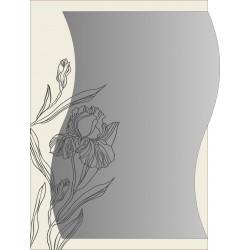 """Зеркало """"Ирис"""" серебро  500*700*8 мм."""