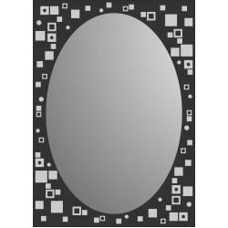 Зеркало MG-09, 500*700*8 мм.